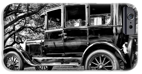 Ford Model T Car iPhone Cases - 1926 Ford Model T iPhone Case by Bill Cannon