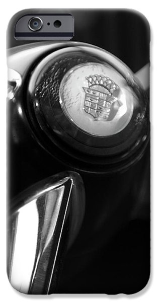 Historic Vehicle iPhone Cases - 1947 Cadillac Steering Wheel iPhone Case by Jill Reger