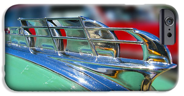 1949 Plymouth iPhone Cases - 1949 Plymouth Hood Ornament iPhone Case by Larry Keahey
