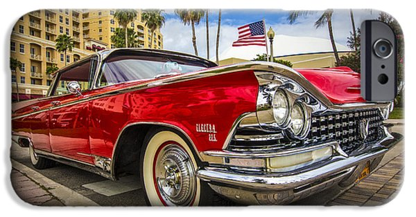 Old Cars iPhone Cases - 1955 Buick Electra iPhone Case by Debra and Dave Vanderlaan