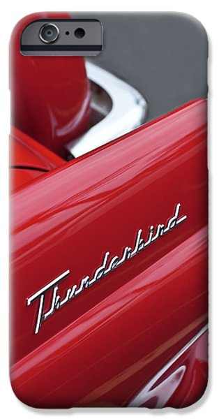 1956 iPhone Cases - 1956 Ford Thunderbird Taillight Emblem 2 iPhone Case by Jill Reger