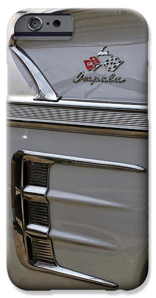 Fuzzy Digital iPhone Cases - 1958 Chevrolet Impala iPhone Case by Gordon Dean II