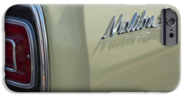 Malibu iPhone Cases - 1965 Chevrolet Chevelle Malibu SS Emblem and Taillight iPhone Case by Jill Reger