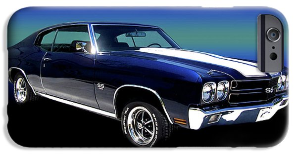 Chico iPhone Cases - 1970 Chevelle SS iPhone Case by Peter Piatt
