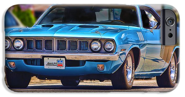 440 iPhone Cases - 1971 Plymouth Cuda 383 iPhone Case by Gordon Dean II