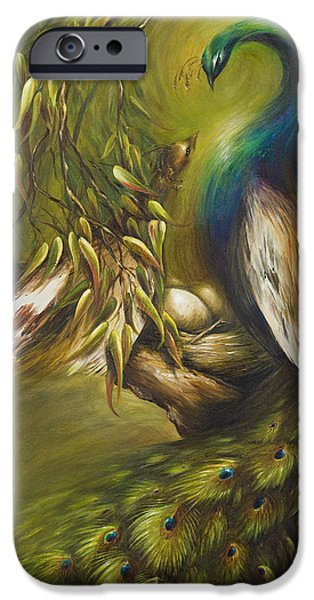 Peafowl iPhone Cases - Birds of a Feather iPhone Case by Dina Dargo