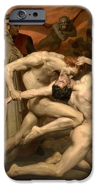 20th iPhone 6 Case - Dante And Virgil In Hell  by William-Adolphe Bouguereau