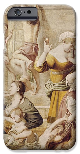 Donation iPhone 6 Case - Detail Of Saint Cecilia Distributing Alms by Domenichino