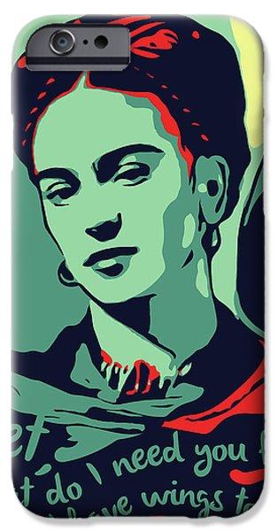 Folk Art iPhone 6 Case - Frida Kahlo by Greatom London