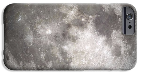 Background iPhone Cases - Full Moon iPhone Case by Stocktrek Images