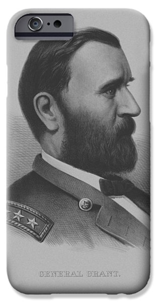 President iPhone Cases - General Grant iPhone Case by War Is Hell Store