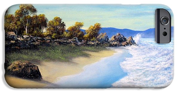 Ocean Reliefs iPhone Cases - Surf Surge iPhone Case by John Cocoris