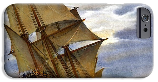 Pilgrims iPhone Cases - The Mayflower iPhone Case by Granger