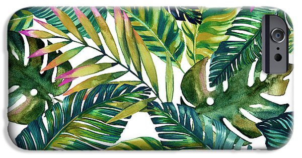 Pattern iPhone 6 Case - Tropical  by Mark Ashkenazi