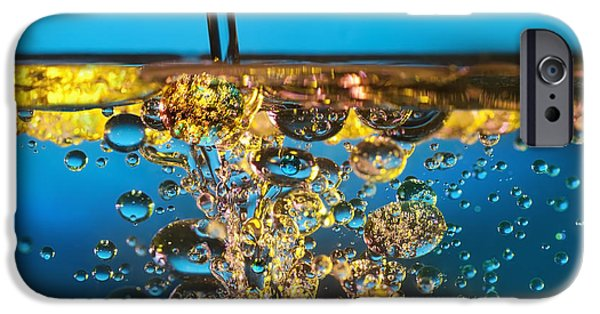 Nature Abstract iPhone Cases - Water And Oil iPhone Case by Setsiri Silapasuwanchai