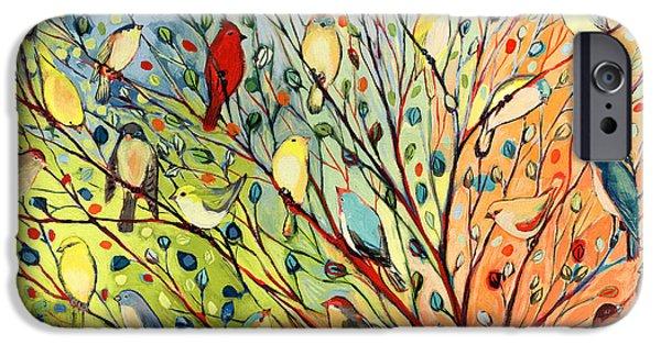 Tree iPhone 6 Case - 27 Birds by Jennifer Lommers