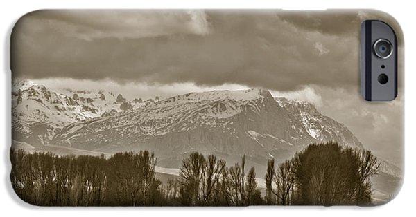 Wintertime iPhone Cases - Aladaglar Mountains iPhone Case by Gabriela Insuratelu