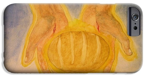 Loaf Of Bread iPhone Cases - Bread From Heaven iPhone Case by Nigel Wynter