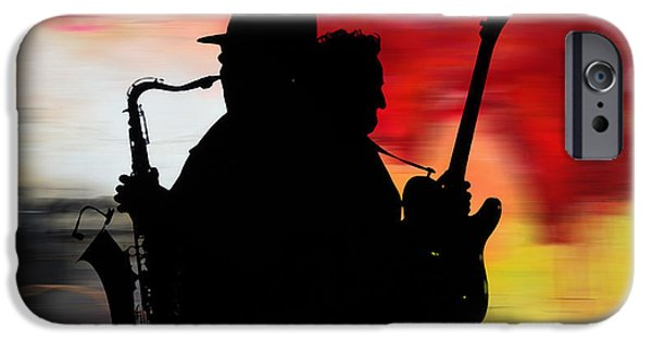Bruce Springsteen Clarence Clemons IPhone 6 Case by Marvin Blaine