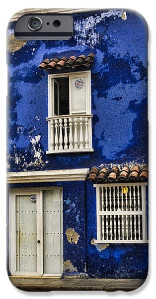 Site iPhone Cases - Colonial buildings in old Cartagena Colombia iPhone Case by David Smith