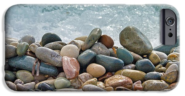 Beach Landscape iPhone Cases - Ocean Stones iPhone Case by Stylianos Kleanthous