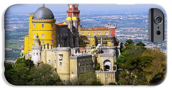 Portuguese iPhone Cases - Pena Palace iPhone Case by Carlos Caetano