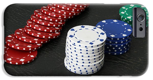 Chip iPhone Cases - Poker Chips iPhone Case by Photo Researchers, Inc.