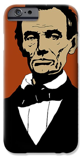 Proclamation iPhone Cases - President Lincoln iPhone Case by War Is Hell Store