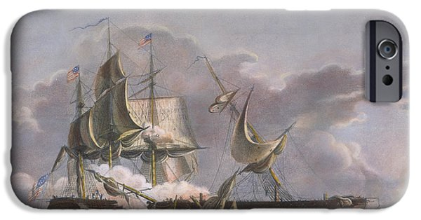 Constitution iPhone Cases - War Of 1812: Naval Battle iPhone Case by Granger