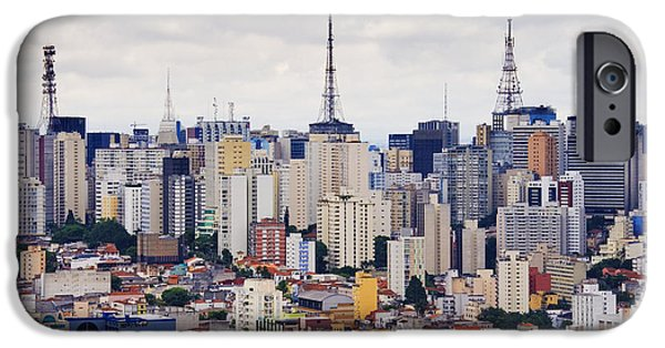 Office Space Photographs iPhone Cases - Buildings of Downtown Sao Paulo iPhone Case by Jeremy Woodhouse