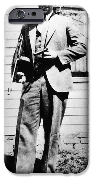 Escape iPhone Cases - John Dillinger 1903-1934 iPhone Case by Granger