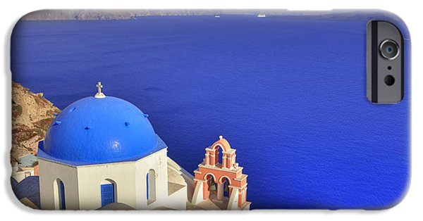 Chapels iPhone Cases - Oia - Santorini iPhone Case by Joana Kruse
