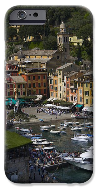 Village iPhone Cases - Portofino in the Italian Riviera in Liguria Italy iPhone Case by David Smith