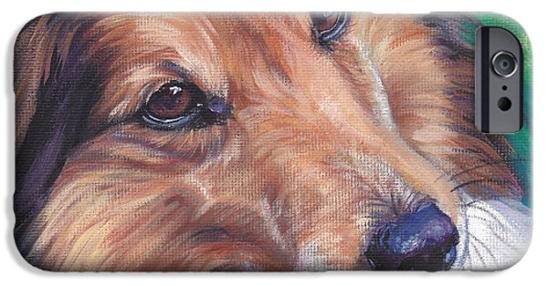 Recently Sold -  - Puppies iPhone Cases - Shetland Sheepdog iPhone Case by Lee Ann Shepard
