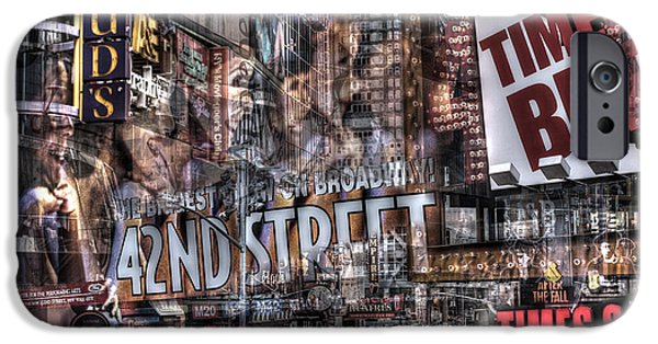 IPhone 6 Case featuring the photograph 42nd Street Times Square 2 by Dave Beckerman