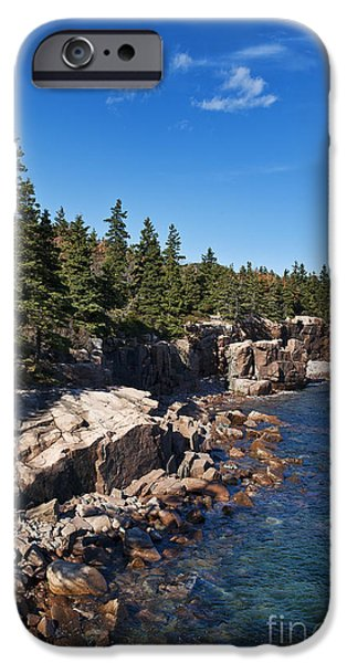 Rocky Maine Coast iPhone Cases - Acadia National Park iPhone Case by John Greim