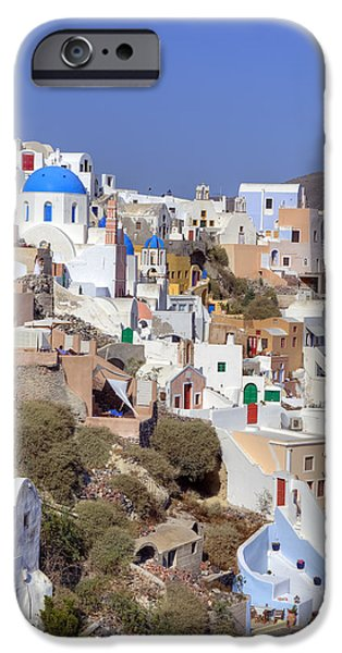 Sea View iPhone Cases - Oia - Santorini iPhone Case by Joana Kruse