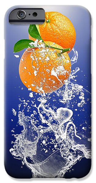 IPhone 6 Case featuring the mixed media Orange Splash by Marvin Blaine