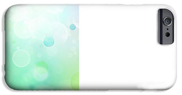 Glowing iPhone Cases - Abstract background iPhone Case by Les Cunliffe