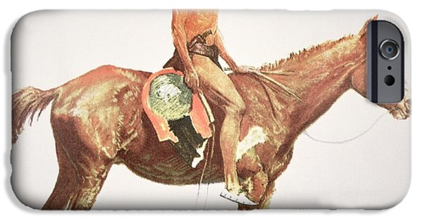 Wild Horses iPhone Cases - A Cheyenne Brave iPhone Case by Frederic Remington