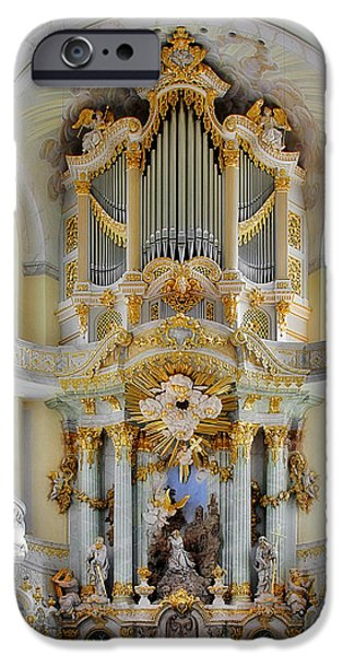 Christine Till iPhone Cases - A church filled with music - Church of Our Lady Dresden iPhone Case by Christine Till