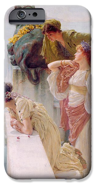 Recently Sold -  - Sea iPhone Cases - A Coign of Vantage iPhone Case by Sir Lawrence Alma-Tadema