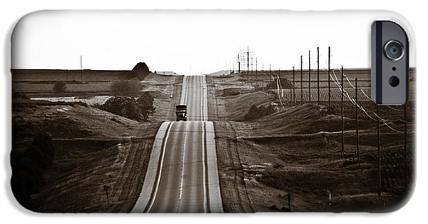 Nebraska iPhone Cases - A Country Mile 1 iPhone Case by Marilyn Hunt