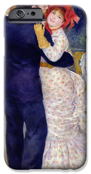 Dance iPhone Cases - A Dance in the Country iPhone Case by Pierre Auguste Renoir