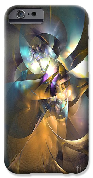Colorful Abstract Algorithmic Contemporary iPhone Cases - A distant melody iPhone Case by Sipo Liimatainen