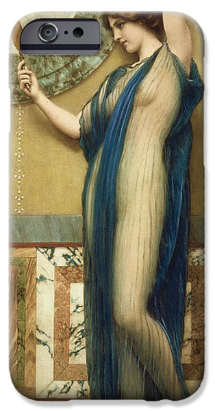 Photo Paintings iPhone Cases - A Fair Reflection iPhone Case by John William Godward