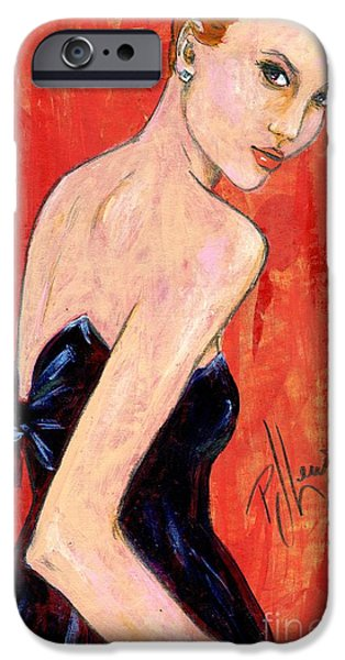 Figure iPhone Cases - A glance back iPhone Case by P J Lewis