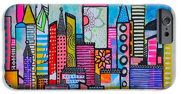 iPhone 6 Case - A New 12 X12 #cityscape #collage by Robin Mead