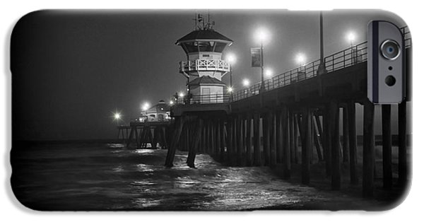 Fall iPhone Cases - A Night on the Pier iPhone Case by Mariola Bitner