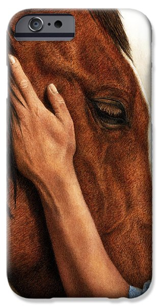 Connection Paintings iPhone Cases - A Quiet Moment iPhone Case by Pat Erickson